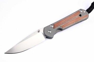 Chris Reeve Knives Sebenza 21 Small / Natural Canvas Micarta Inlay