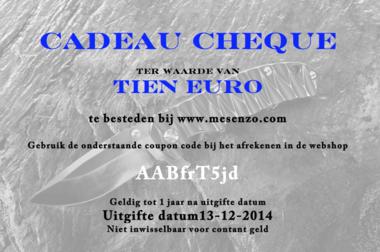 Cadeau Cheque 10 euro