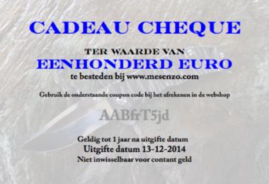 Cadeau Cheque 100 euro
