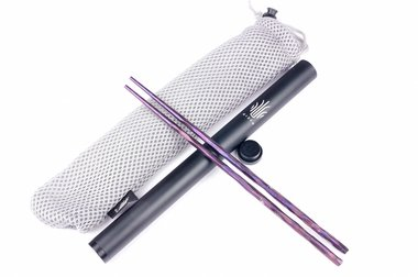 Kizer Titanium Chopsticks T309A3 Purple