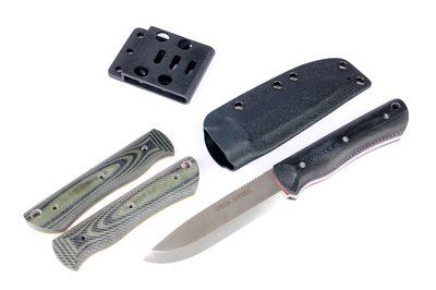 Real Steel Knives Bushcraft Individual Black & Green